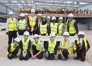 Yorkon Riverside Schools topping out 7128 021